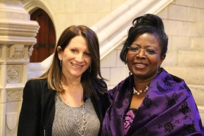 Efua Dorkenoo with UK International Development Minister Lynne Featherstone. Picture: Options