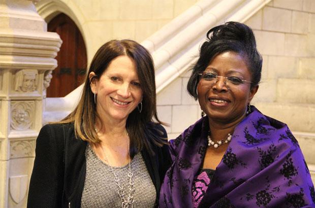 Efua Dorkenoo with UK International Development Minister Lynne Featherstone. Picture: Options