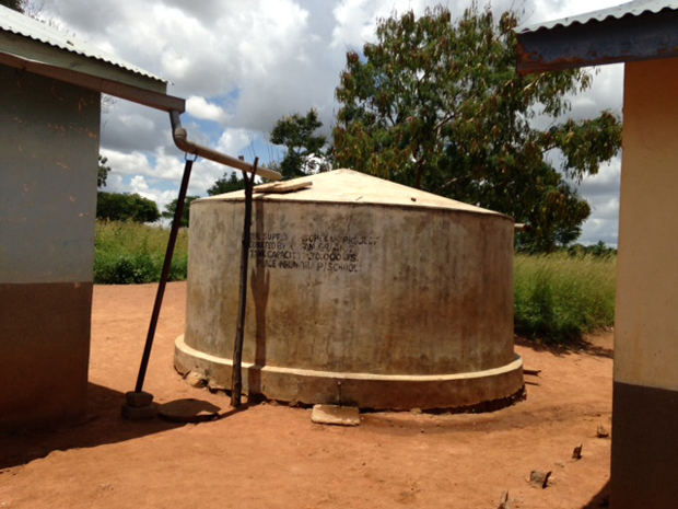 Water from heaven. Picture: Ian Attfield/DFID