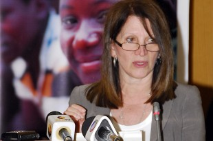 Lynne Featherstone speaking in Mozambique. Picture: Julia Smith/DFID
