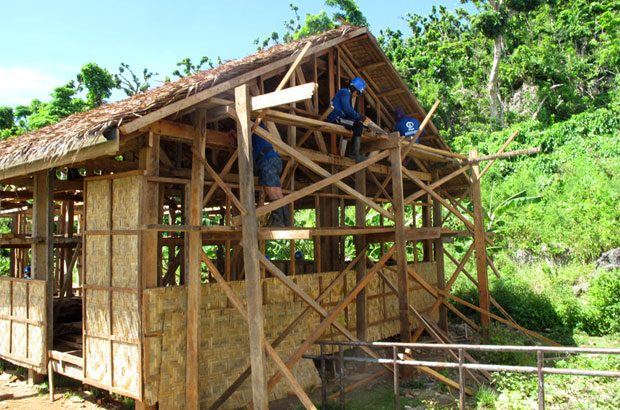 Rebuilding after the typhoon: UK supported partner Plan's programme near Guiuan. Picture: Henry Donati/DFID