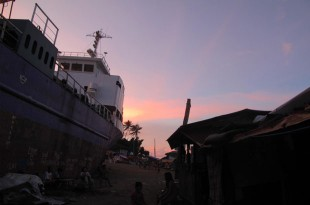 Sun sets in Tacloban. Picture: Henry Donati/DFID
