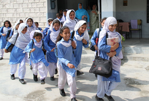 The UK government is committed to getting two million more girls into school in Pakistan by 2015. Picture: Vicki Francis/DFID.