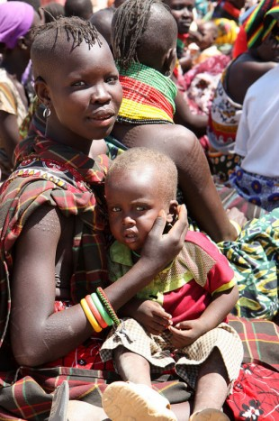 A young mum and her baby, Kenya. Picture: DFID Kenya