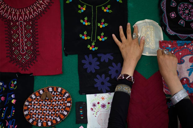 Sewing and handicraft products created by Afghan women in the Zardosi network. Picture: Zardozi.