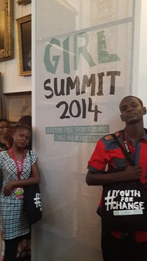 Merveille Ntumba and Nathan Katende, the UNICEF youth journalists who attended Girl Summit in London. Picture: DFID DRC