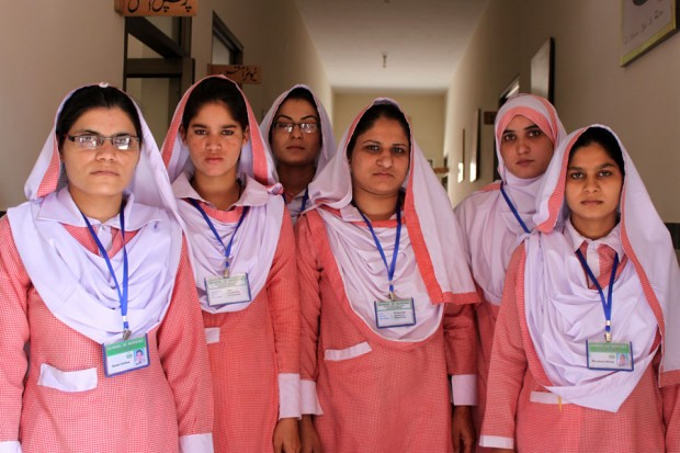 Funding from the UK is helping to train community midwives. The target is to deploy 12,000 of them nationwide by 2015. Picture: Saad Mustafa