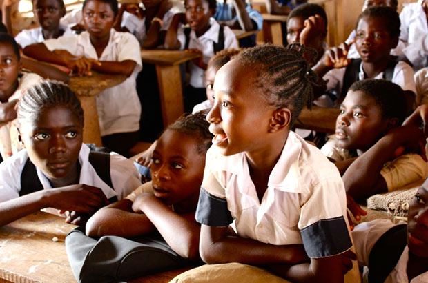 In DRC half the female population aged 15 to 24 are illiterate. Only 10% of girls reach some secondary level of education. Picture: DFID DRC