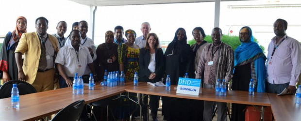 Lynne Featherstone with the Somali minister of Women and Human Rights and the Gender Based Violence Working Group. Picture: DFID Somalia