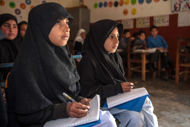 Girls in school in Pakistan's Punjab region. Picture: Usman Ghani/DFID