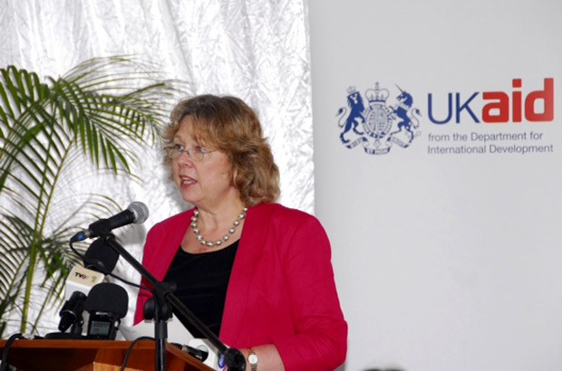 Baroness Northover launches DFID's new Skills for Employment (S4E) and Ligada Programmes at the Stefanutti Stocks Construction School. Picture: Tomas Cumbana