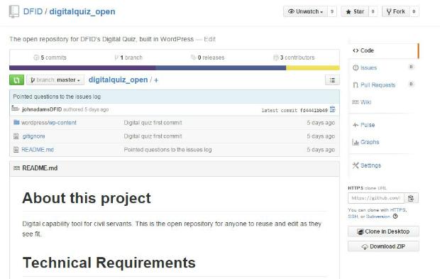 Screenshot of the GitHub repository