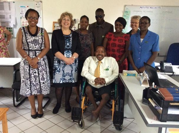 Baroness Northover with the CCBRT Advocacy team. Picture: DFID