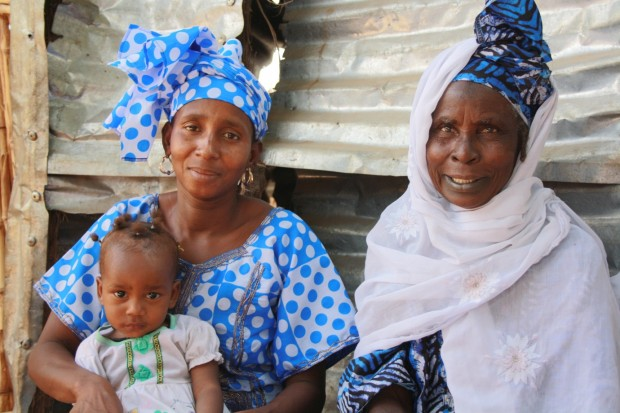 Oumou (left)- with her mother and 18-month-ol old daughter, Maimuna. Picture: Christine Kolbe/DFID