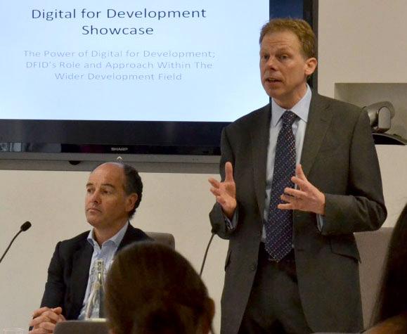 DFID's former Digital Leader Richard Calvert speaking at the Digital for Development Day held in 2014. Picture: Julia Chandler/DFID