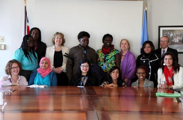 International Development minister Lindsay Northover meets a group of women with disabilities from Zimbabwe, Kenya, Uganda, Ghana, Mexico and Pakistan along with Handicap International. Picture: Sheena Ariyapala/DFID