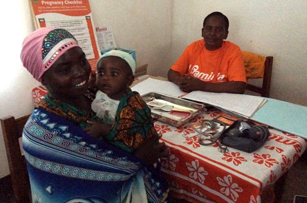 This young mother, aged 26, already has 3 children. She's looking for long-term protection and is having a one-to-one consultation about it. Picture: Lindsay Northover/DFID