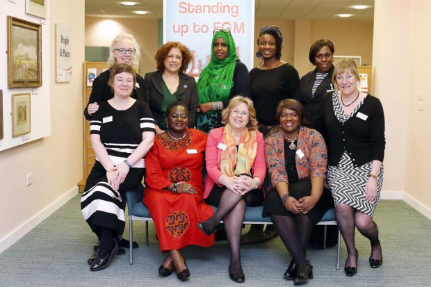 Baroness Northover meets FGM campaigners at Enfield's 'Standing up to FGM event', organised jointly by ESCB, Enfield Council and ProjectACEi. Picture: Simon O'Connor