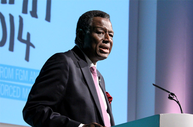 Dr Babatunde Osotimehin, Executive Director of UNFPA, speaking at the Girl Summit 2014. Picture: Russell Watkins/DFID