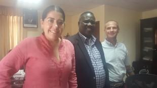 Ian, Lucinda and meet Tanzania Permanent Secretary Sagini