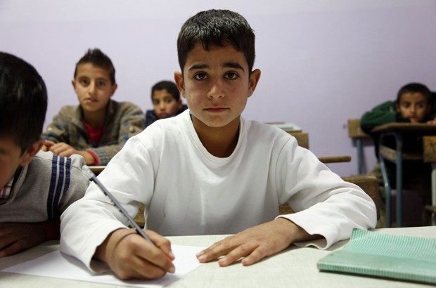 11-year-old Ahmad from Syria is back in school thanks to support from UK aid. Picture: Russell Watkins/DFID.