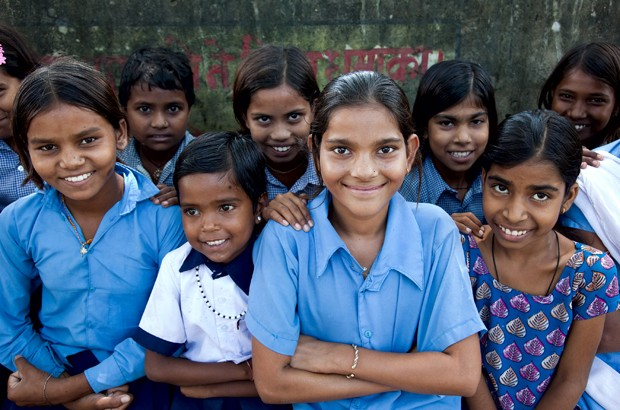 Girls from two communities in rural Rajasthan that have been made aware of the dangers of child marriage. Picture: Graham Crouch/Girls Not Brides. All rights reserved.