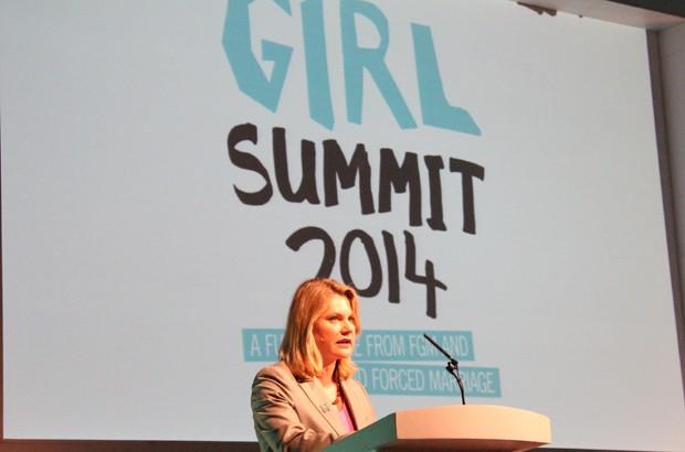 International Development Secretary, Justine Greening, speaking at the opening of the Girl Summit 2014. Picture: Russell Watkins/DFID.